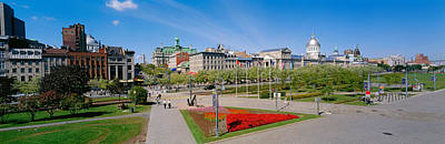 Montreal Places Photograph - Buildings In A City, Place Jacques by Panoramic Images