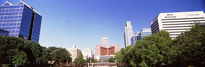 Riverwalk Photograph - Buildings In A City, Qwest Building by Panoramic Images