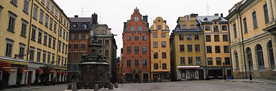Gamla Stan Photograph - Buildings In A City, Stortorget, Gamla by Panoramic Images