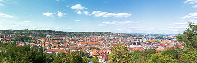 Distant Trees Photograph - Buildings In A City, Stuttgart by Panoramic Images