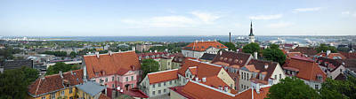 Buildings In A City, Tallinn, Estonia Art Print by Panoramic Images