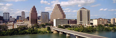 San Jacinto Photograph - Buildings In A City, Town Lake, Austin by Panoramic Images