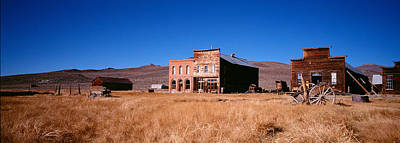 Buildings In A Ghost Town, Bodie Ghost Art Print by Panoramic Images