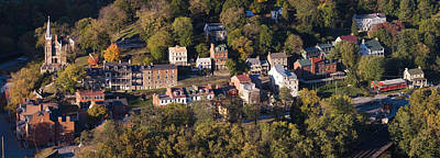 Harpers Ferry Photograph - Buildings In A Town, Harpers Ferry by Panoramic Images
