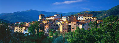 Buildings In A Town, Loro Ciuffenna Art Print by Panoramic Images