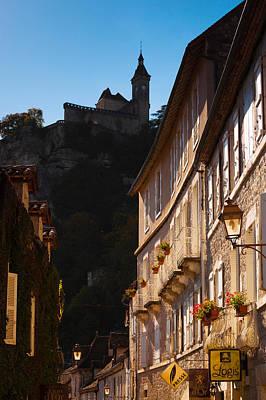 Buildings In A Town, Rocamadour, Lot Art Print