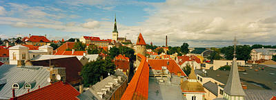 Buildings In A Town, Tallinn, Estonia Art Print by Panoramic Images