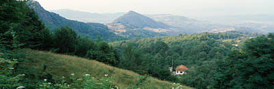 Transylvania Photograph - Buildings In A Valley, Transylvania by Panoramic Images