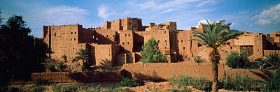 Moroccan Photograph - Buildings In A Village, Ait Benhaddou by Panoramic Images