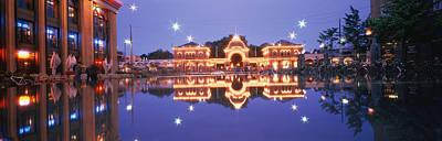 Pleasure Photograph - Buildings In An Amusement Park Lit by Panoramic Images