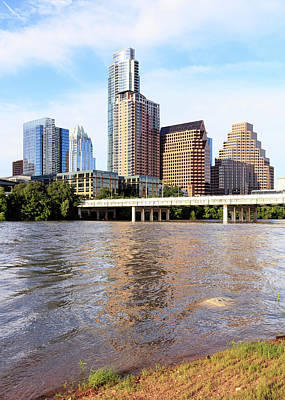 Lady Bird Lake Photograph - Buildings In Downtown Austin, Texas, Usa by Panoramic Images