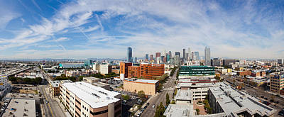 Buildings In Downtown Los Angeles, Los Art Print by Panoramic Images