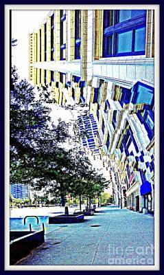 Buildings In Flux Art Print by Scott Dixon
