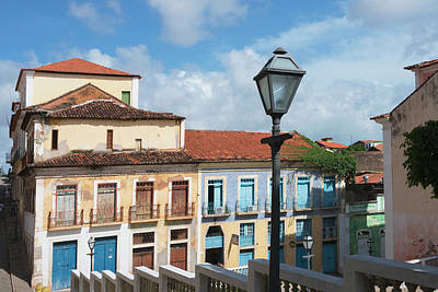 Luis Photograph - Buildings In Historic Center Of Sao by Keren Su