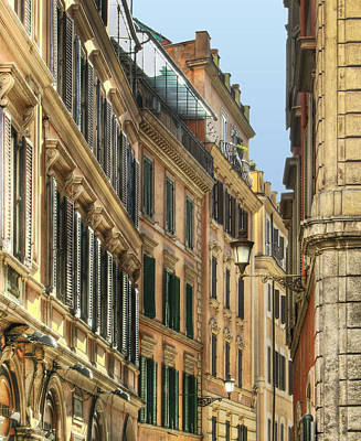 Photograph - Buildings In Rome by Vlad Baciu