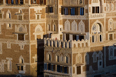 Yemen Photograph - Buildings In San'a, Yemen by Peter Adams