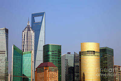 Buildings In Shanghai Pudong Print by Fototrav Print
