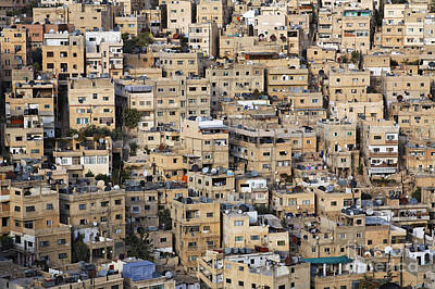 Jordan Photograph - Buildings In The City Of Amman Jordan by Robert Preston