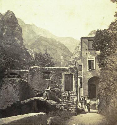 Roberto Drawing - Buildings In The Valle Dei Molini, Amalfi by Artokoloro