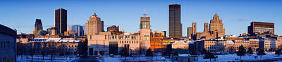 Montreal Winter Scenes Photograph - Buildings In Winter, Montreal, Quebec by Panoramic Images