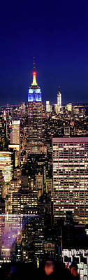 Empire State Photograph - Buildings Lit Up At Dusk, Empire State by Panoramic Images