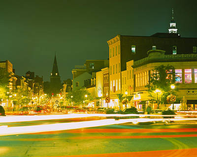 Maryland Photograph - Buildings Lit Up At Night, Annapolis by Panoramic Images