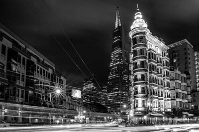 Photograph - Buildings Lit Up At Night by Celso Diniz
