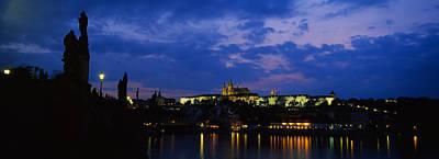 Prague Photograph - Buildings Lit Up At Night, Prague by Panoramic Images