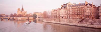 Ile De La Cite Photograph - Buildings Near Seine River, Notre Dame by Panoramic Images