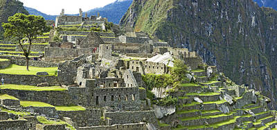 Ancient Civilization Photograph - Buildings On A Hill, Andes by Panoramic Images