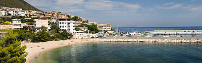 Cala Photograph - Buildings On The Beach Front, Cala by Panoramic Images