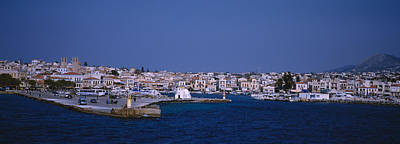Aegina Photograph - Buildings On The Waterfront, Aegina by Panoramic Images