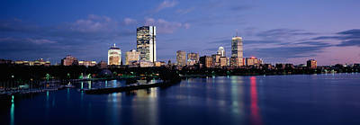 Boston Financial District Photograph - Buildings On The Waterfront At Dusk by Panoramic Images