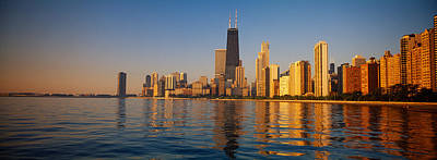 Buildings On The Waterfront, Chicago Print by Panoramic Images