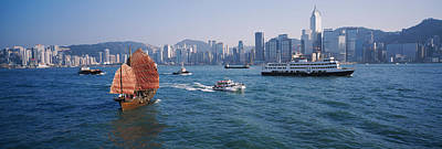 Buildings On The Waterfront, Kowloon Art Print by Panoramic Images