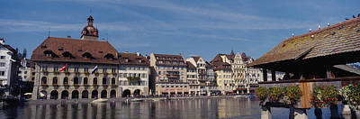 Lucerne Photograph - Buildings On The Waterfront, Lucerne by Panoramic Images