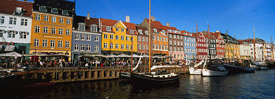 Buildings On The Waterfront, Nyhavn Art Print by Panoramic Images