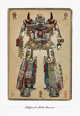 Mopar Digital Art - Built American Tough Robot No.2 by Jeff Steed