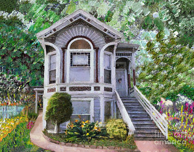 Painting - Alameda 1895 Queen Anne by Linda Weinstock