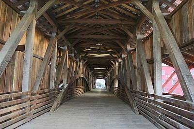 Bridgeton Covered Bridge Photograph - Built To Last - Again by Clayton Kelley