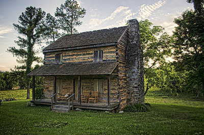Log Cabins Photograph - Built To Last by Heather Applegate