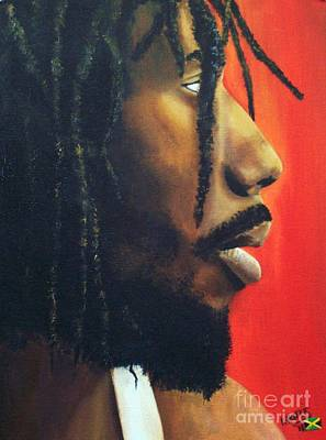 Jamaican Painting - Buju Banton Give I Strength by Kenneth Harris