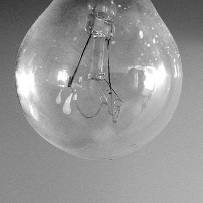 Iphone 4s Photograph - #bulb #iphone #light #bw #4s by Jan Kratochvil