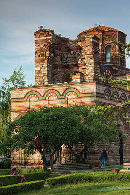 Eastern Orthodox Wall Art - Photograph - Bulgaria, Black Sea Coast, Nesebar by Walter Bibikow