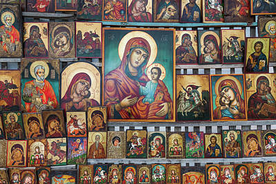 Sofia Photograph - Bulgaria, Sofia, Souvenir Icons For Sale by Walter Bibikow