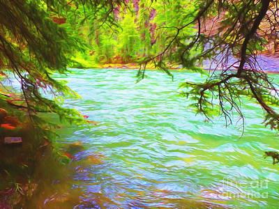Bulging River Print by John Kreiter