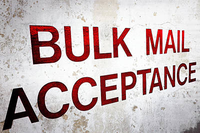 Photograph - Bulk Mail Acceptance by Sennie Pierson