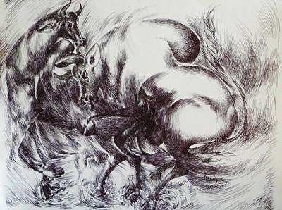 Bull-1 Art Print