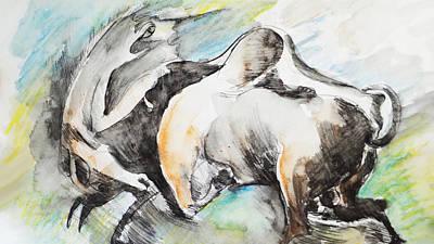 Bull-4 Art Print