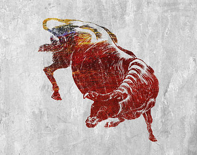 Agriculture Digital Art - Bull by Aged Pixel